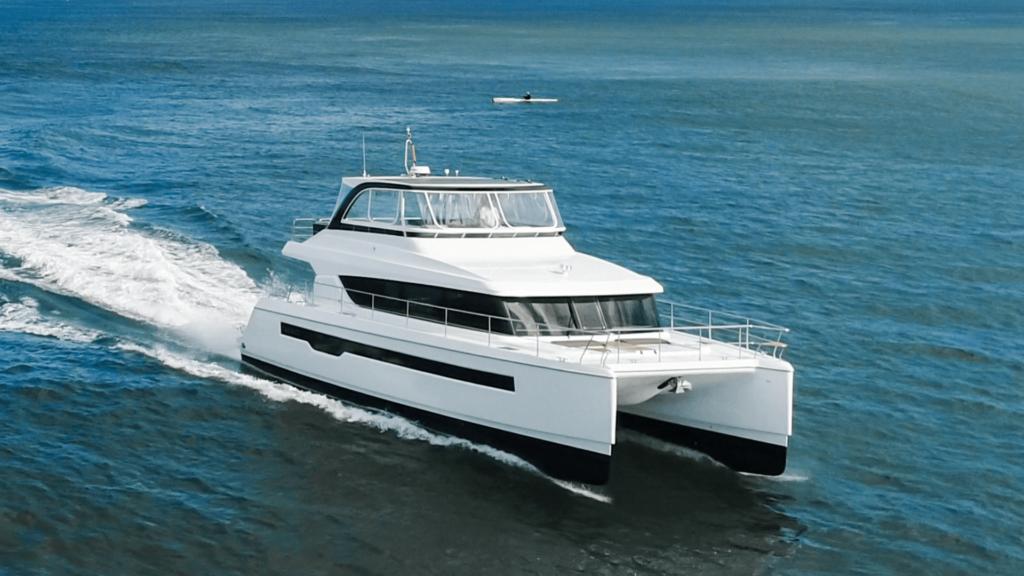 Power Catamaran Iliad 50 underway