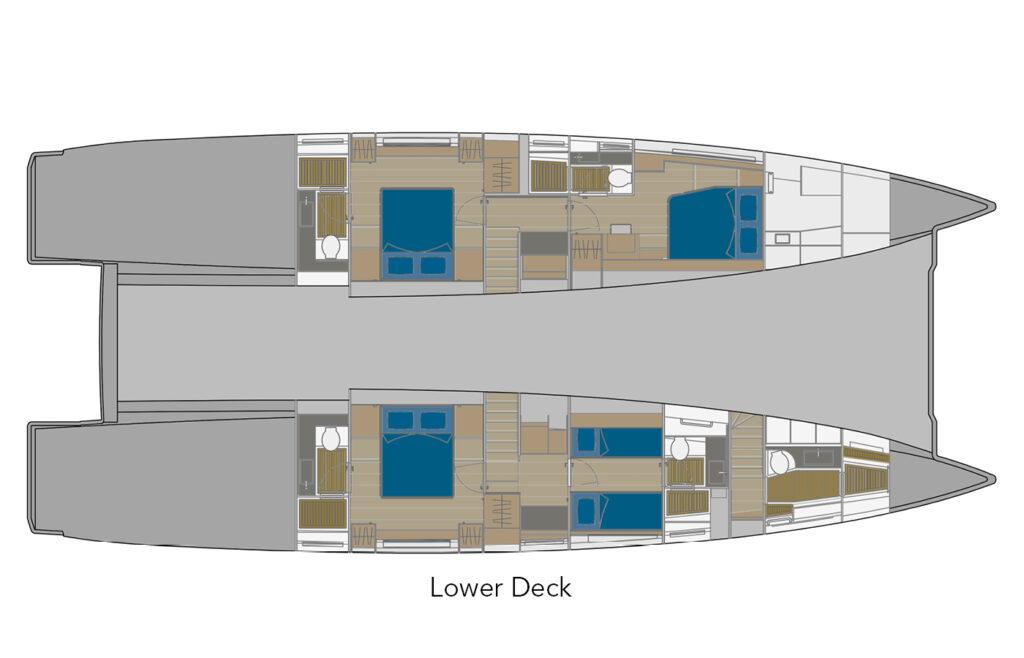 70 Lower Deck layout