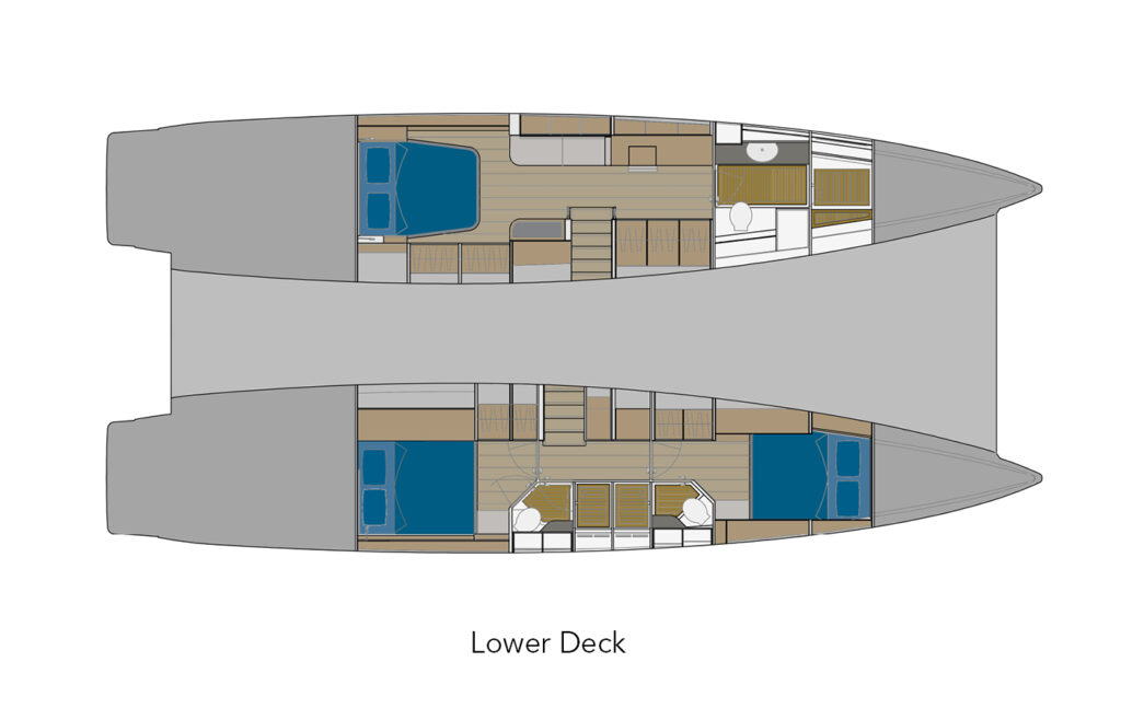ILIAD 50 Lower Deck layout