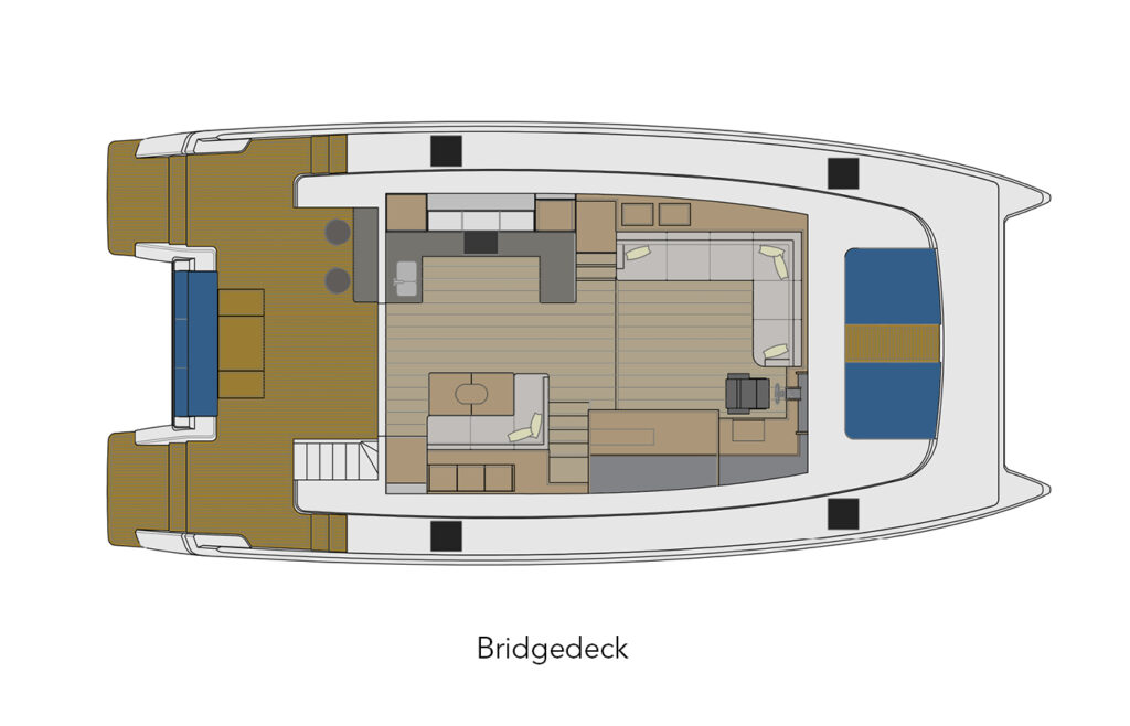 ILIAD 50 bridgedeck layout