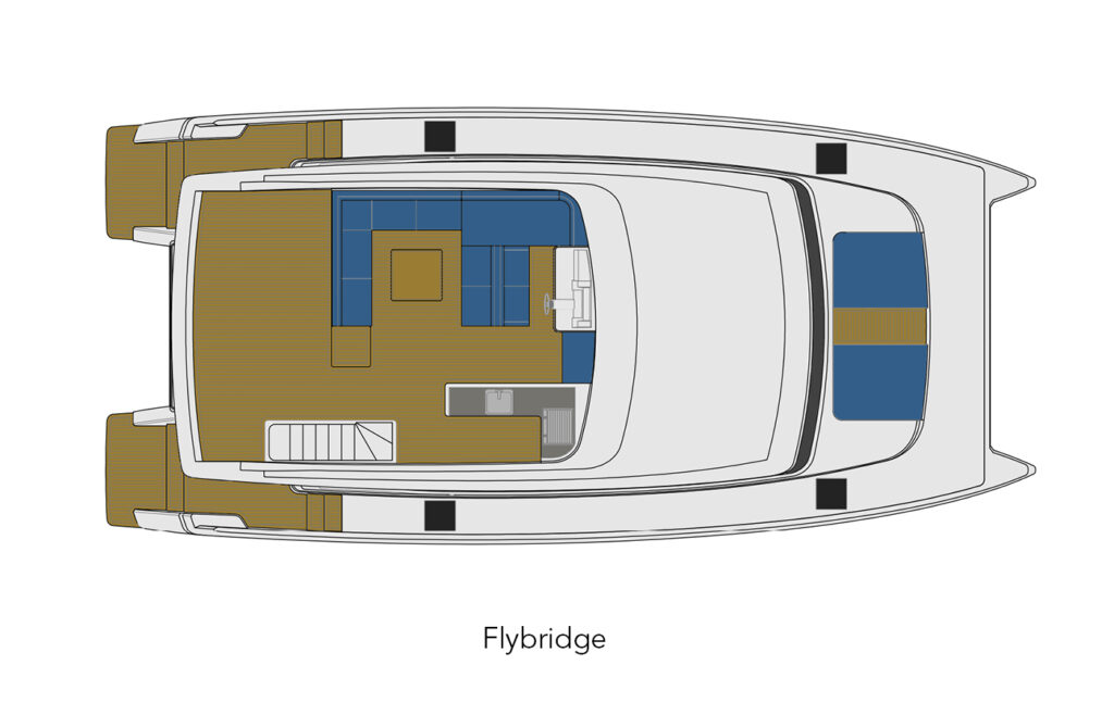 ILIAD 50 flybridge layout